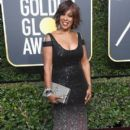 Gayle King in  Marc Bouwer   Dress : 75th Annual Golden Globe Awards