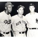 Jackie Robinson, Joe Gordon & Joe DiMaggio 1947