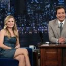 Kristen Bell making an appearance on 'Late Night with Jimmy Fallon' (August 22)
