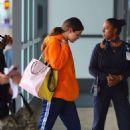 Selena Gomez in Sweatsuit – Arrives at JFK Airport in New York