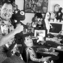Director John Lasseter behind the scenes of Walt Disney's A Bug's Life - 1998