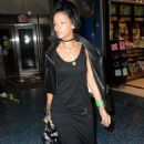 Rihanna Arriving For A Flight At Miami International Airport