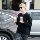 Charlize Theron In Spandex Out In Hollywood