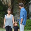 Kourtney Kardashian: took her son Mason to a local park in Miami