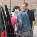 Mila Kunis and Ashton Kutcher – Seen at the GAT of the Airport Schoenefeld in Berlin