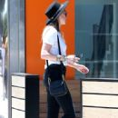 Amber Heard in Black Jeans Shopping in Hollywood