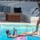 Izabel Goulart in Floral Bikini at the pool in Mykonos - 454 x 312