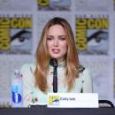 Actress Caity Lotz attends DC's