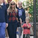 Reese Witherspoon at the Brentwood Country Market with her hubby and their son Tennessee in Brent wood, California on December 10, 2016