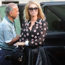 Paris Hilton in Mini Skirt – Heads to a Beauty Salon in Beverly Hills