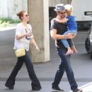 Amy Adams-May 30, 2015-Amy Adams and Family Enjoy a Swimming Class and Shopping