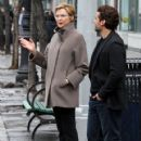 Annette Bening shoots a stunt scene where she pretends to get hit by a bus on the set of 'Life, Itself' in downtown Manhattan, New York on March 25, 2017 - 421 x 600