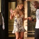 "Mariah Carey Appears On Set During Filming For Her New Music Video ""Obsessed"" In New York City"