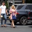 Claire Holt with her family out to lunch in West Hollywood