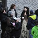Caitriona Balfe – Filming 'Outlander' in Fife