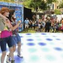 "Bella Thorne and Zendaya Coleman showed off their dance moves at Disney's ""Make Your Mark"" talent search, July 8"