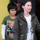 Megan Fox lunch with stepson, Kassius