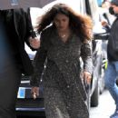 Salma Hayek – on the set of 'House of Gucci' in Rome - 454 x 710