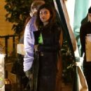 Cara Delevingne and Margaret Qualley – Spotted on a cozy dinner in Los Angeles