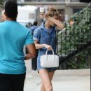 Gigi Hadid in Jeans Shorts – Out in SoHo