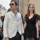 Lily Cole And Enrique Murciano - Christian Dior Paris Fashion Show F/W On July 5, 2010 - 343 x 600