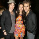 Paul Wesley, Nina Dobrev, and Ian Somerhalder attended the Ubisoft At Camp Playboy Party and the Maxim Celebrates FX And Twentieth Century Fox Home Entertainment part last night, July 22, at Comic Con