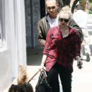 Amanda Seyfried and a friend take dog Finn out to explore West Hollywood