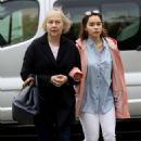 Emilia Clarke with her mother out in London - 454 x 484
