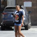 Christina Milian in Shorts – Out in Studio City - 454 x 576