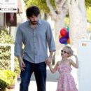 Ben Affleck walks hand in hand with his adorable daughter Violet