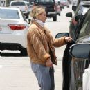 Hilary Duff – Wearing a face mask as she heads home in Los Angeles