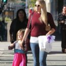 Busy Philipps and her daughter Birdie running errands in Los Angeles, California on December 14, 2013 - 409 x 594