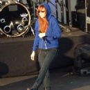 Ashlee Simpson Prepares For A Performance On The Jimmy Kimmel Show 2008-04-24