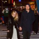 Dakota Fanning with Henry Frye out in NYC