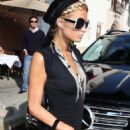 Paris Hilton Leaves Prego In Beverly Hills, 2009-04-24