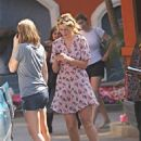 Mischa Barton - With Her Friends In Front Of The Palazzo Apartments Near The Grove With Her Car Broken Down, 2010-05-08