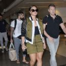 Demi Lovato at the LAX airport in Los Angeles