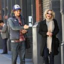 Meg Ryan and her son Jack Quaid out and about in New York City on October 04, 2015