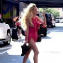 Candice Swanepoel in Shorts Out in New York - 454 x 588