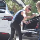 Charlize Theronin Spandex – Out in Los Angeles - 454 x 681