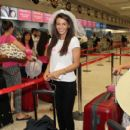 Michelle Keegan spotted at Manchester Airport preparing to jet off to Dubai for hen do