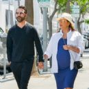 Eva Longoria in Blue Dress out in Beverly Hills - 454 x 680