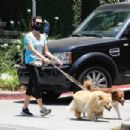 Aubrey Plaza – Out walking her dogs in LA