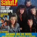 Joey Tempest, John Norum, John Leven, Ian Haugland - Salut! Magazine Cover [France] (10 September 1986)