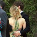 Emma Roberts at a wedding with new beau, Evan Peters for friend and stylist Emily Current in Santa Barbara, CA (July 14)