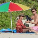 Olivia Palermo: play in the surf on the beaches of St. Bart's