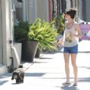 Miranda Cosgrove Walking Her Dog In La