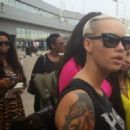 Amber Rose, Boris Kodjoe, and Karlie Redd Arrive in Lagos, Nigeria - September 21, 2013 - 454 x 329