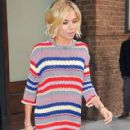 Sienna Miller is seen leaving her hotel in New York City, New York on January 13, 2015