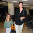 Courteney Cox and Coco Arquette arriving at LAX airport in Los Angeles, CA with Josh Hopkins (June 30)